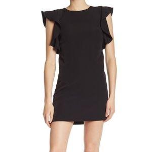 NWT Laundry Black Ruffle Sleeve Dress